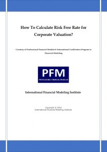 How to Calculate Risk Free Rate for Corporate Valuation?
